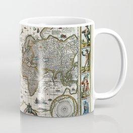 Map Nova totius terrarum orbis geographica (1635) Coffee Mug