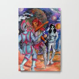 babes fight Metal Print