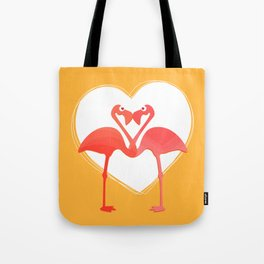 lovebirds - flamingos in love Tote Bag