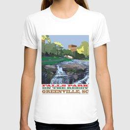 Falls Park On The Reedy, Greenville, SC T-shirt