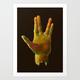 25 - Spock Hand - Adj Bright Art Print