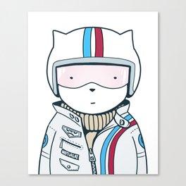 Racer Cat Canvas Print