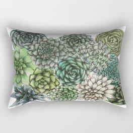 An Assortment of Succulents Rectangular Pillow