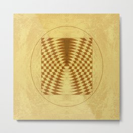 Alien crop circle. Sacred geometry. Metal Print