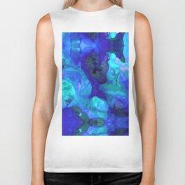 Violet Blue - Abstract Art By Sharon Cummings Biker Tank