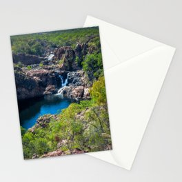Pools and waterfalls viewed from above at Edith Falls, Australia Stationery Cards