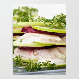Apple and trout appetizer Poster