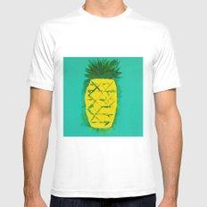 Pineapple (Monumental) Mens Fitted Tee MEDIUM White