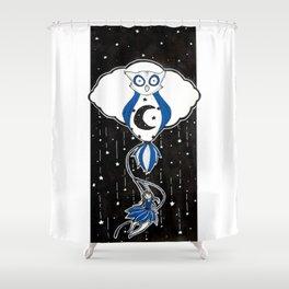 Hibou de Nuit (Night Owl)  Shower Curtain