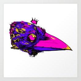 Royal Crow Art Print
