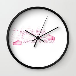 Fists in Faces Wall Clock