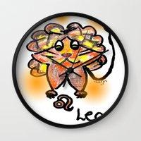 leo Wall Clocks featuring leo by sladja