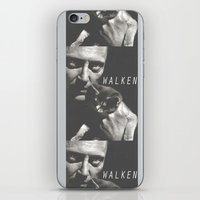christopher walken iPhone & iPod Skins featuring Christopher Walken / Cat by Earl of Grey