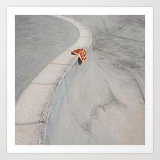 Skate Pizza Art Print