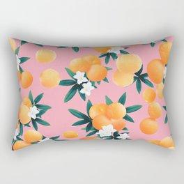 Orange Twist Flower Vibes #4 #tropical #fruit #decor #art #society6 Rectangular Pillow
