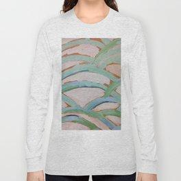 Brush Stokes Leaves Long Sleeve T-shirt