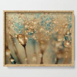 dandelion gold Serving Tray