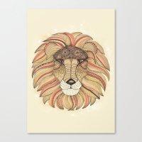 leo Canvas Prints featuring Leo by Vibeke Koehler