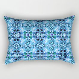 Blue Lily Pattern Abstract #homeDecor Rectangular Pillow