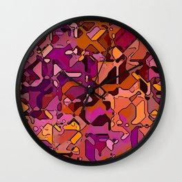 Abstract segmented 3 Wall Clock
