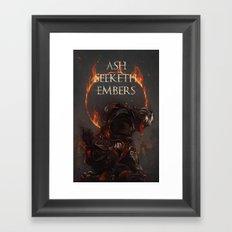 Ash Seeketh Embers Framed Art Print