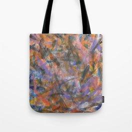 Dark Moods Brushstroke Abstract Tote Bag