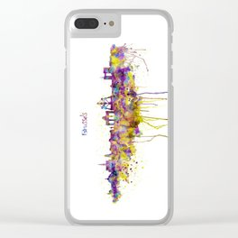 Brussels Skyline Silhouette Clear iPhone Case