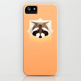 Raccoon Geometric iPhone Case