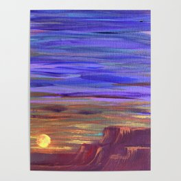 Magical Southwest Night Sky Poster