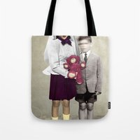 bride Tote Bags featuring Bride by Momenti Riciclati