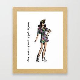 Gina, Goddess of Fruit Framed Art Print