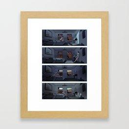 Midnight Radio - Room Framed Art Print
