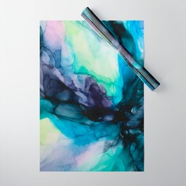 Sweet Pea Pastel Abstract Chaos | Calming Fluid Art Wrapping Paper