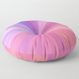 Gravity in Pink and Purple Floor Pillow