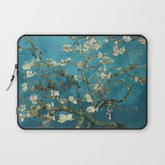Blossoming Almond Trees, Vincent van Gogh. Famous vintage fine art. Laptop Sleeve