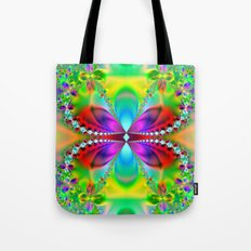 Abstract Jewel Butterfly  Tote Bag