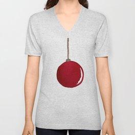 Red Ornament Unisex V-Neck