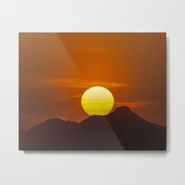 """Desert Sunset 1"" Metal Print"