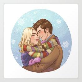 Sharing Warmth Art Print