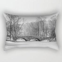 Stone Bridge at Clove Lakes Staten Island Rectangular Pillow