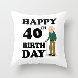 FUNNY OLD | 1978 Birthday Shirt Throw Pillow