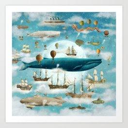Ocean Meets Sky (from book)- square format Art Print