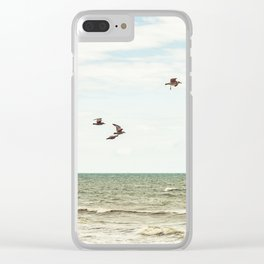 BIRDS - OCEAN - WAVES - SEA - PHOTOGRAPHY Clear iPhone Case