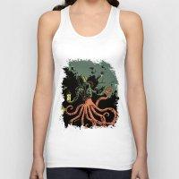 scuba Tank Tops featuring tentacle scuba by Sarah Baslaim