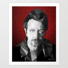 Gary Oldman low poly Art Print