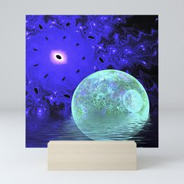 Aqua Bubble Scape Mini Art Print