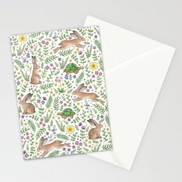 Spring Time Tortoises and Hares Stationery Cards
