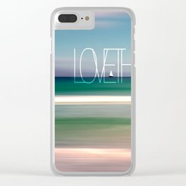 LOVE THE OCEAN II Clear iPhone Case