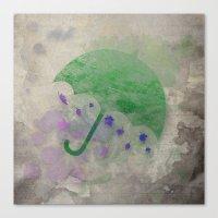 umbrella Canvas Prints featuring Umbrella by Badamg