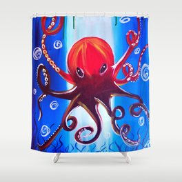 Dancing Octopus Shower Curtain